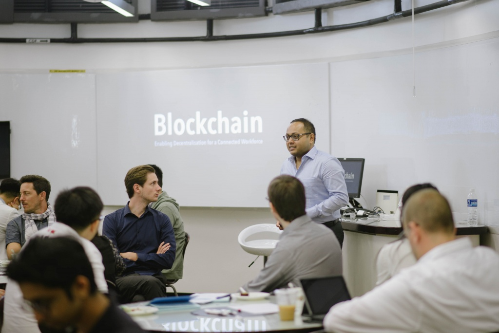Talk on Blockchain by NTU Dr Sourav Sen Gupta