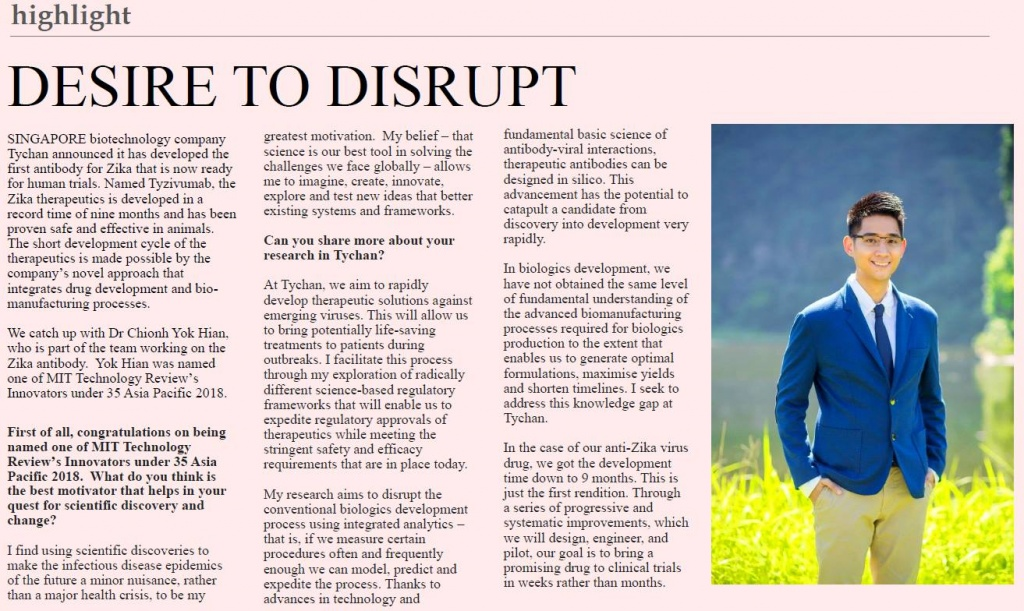 Desire to disrupt  page 1