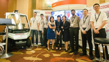 Kudos to (L-R) FM; BioSyM; Innovation Centre and LEES for a successful exhibition at EmTech Asia 2016