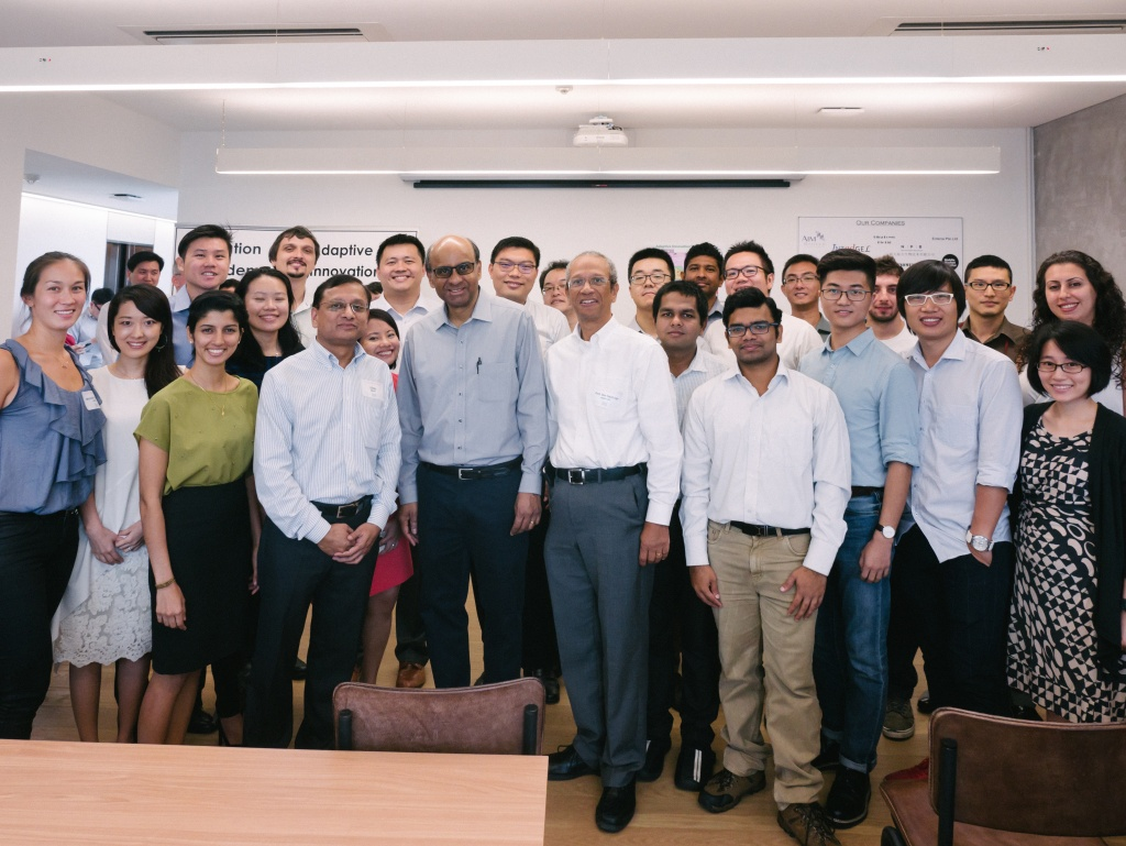 SMART Innovation Fellowship cohort with DPM Tharman Shanmugaratnam at the launch of SMART@SGInnovate.